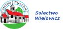Logo Sołectwa Wielowicz przedstawia na planie koła rysunek kościoła w Wielowiczu o budowie szchulcowej dolna obręcz pod kościołem przedstawia zieloną łąkę, górna między dwoma nienieskimi łukami zawiera napis Sołectwo Wielowicz